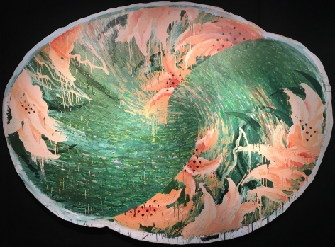 "Robert Zakanitch 1985 painting entitled ""Tiger Falls""."