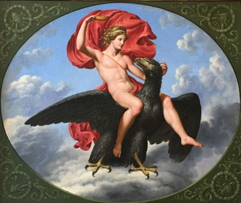 """Oil painting of """"Ganymede""""."""