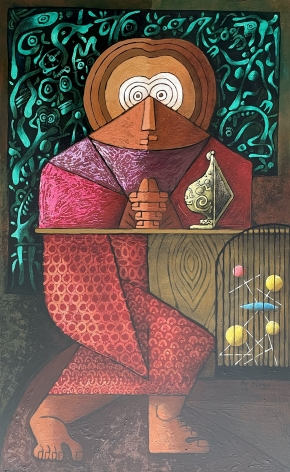 """""""St. Atomic"""" by Julio De Diego."""