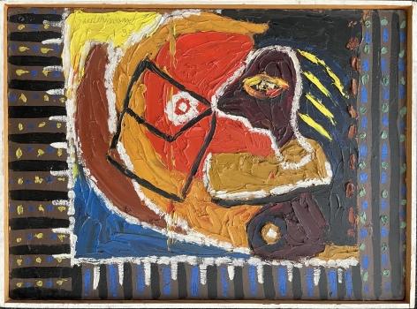 """Frame of """"1-35"""" by Charles Biederman."""