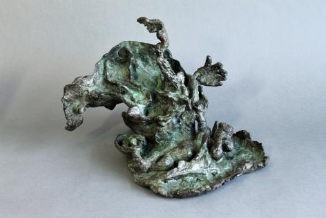 """Yulla Lipchitz bronze entitled """"Woman Lying Down""""."""
