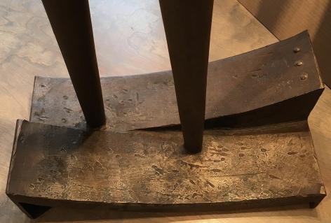 Base of Figur 82, steel sculpture by Rudolf Hoflehner.