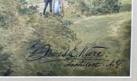 "Ware signature on ""The Hotel Earlington""."
