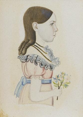 """Sold watercolor portrait of """"Elizabeth"""" by Edwin Plummer."""