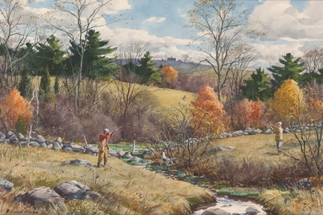 """Sold painting by Aiden Lassell Ripley entitled """"Autumn Cover""""."""