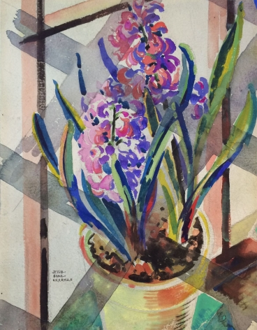 Watercolor of hyacinth by Jessie Bone Charman.