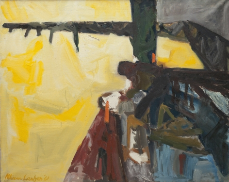 Untitled oil landscape by Miriam Laufer.