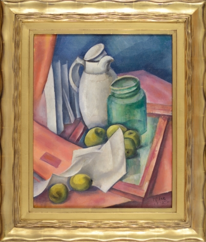 """Frame for """"The White Pitcher"""" by Henry Lee McFee."""