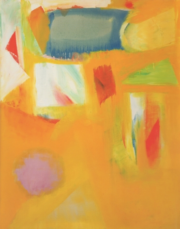 Untitled 1963 abstract oil by John Grillo.