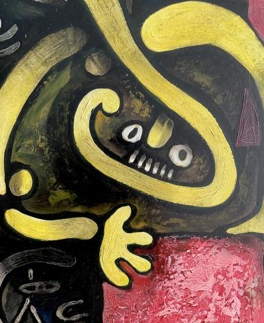 "Detail of ""Trojan Horse - Equestrian"" by Julio de Diego."