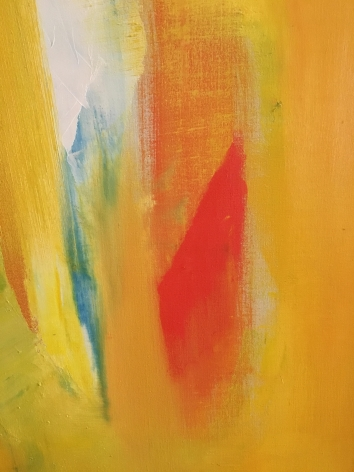 Close-up of Untitled 1963 abstract oil by John Grillo.