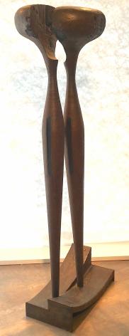 """Steel sculpture entitled """"Figur 82"""" by Rudolf Hoflehner."""