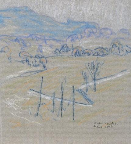 "Allen Tucker pastel called ""Hillside""."