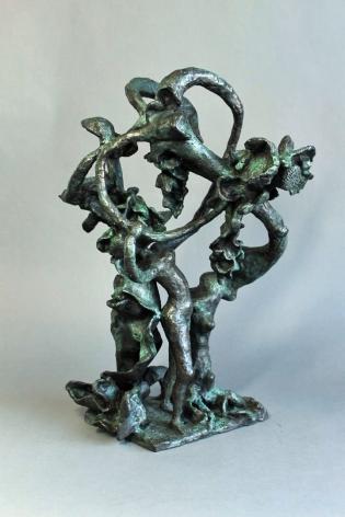 "Yulla Lipchitz bronze sculpture entitled ""Woman Dancing About Trees""."