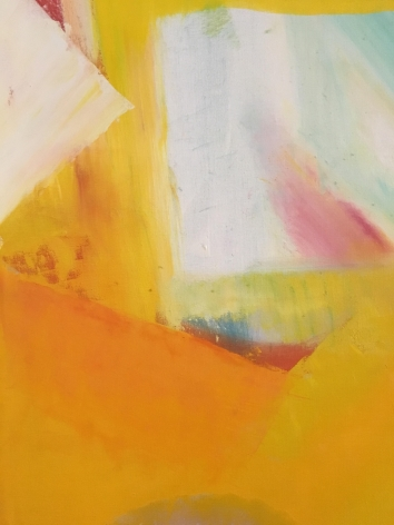 Close-up Untitled 1963 abstract oil by John Grillo.