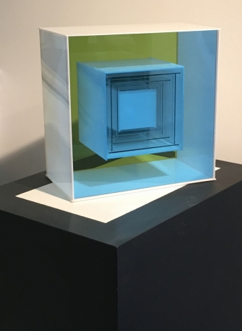 "Plexiglass construction entitled ""#128"" by Leroy Lamis."