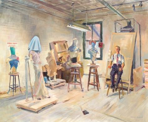 """Louis Bouche painting entitled """"Judgement of Paris""""."""