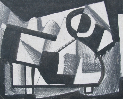 Vaclav Vytlacil untitled abstract black and white painting 007.