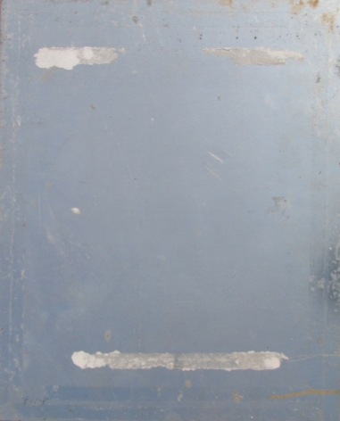 Verso aluminum of Untitled Abstraction by Louis Stone.