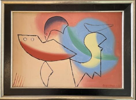 """Frame on """"4-35"""" by Charles Biederman."""