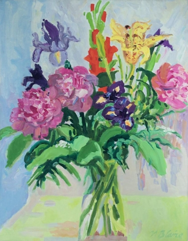 """Nell Blaine oil painting """"Bouquet of Peonies and Empire Lily""""."""