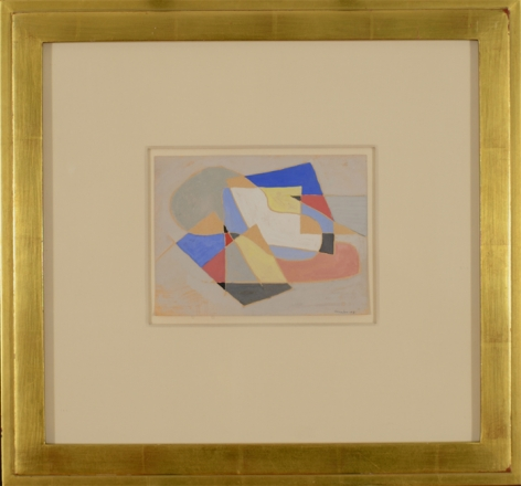 Frame view of 1948 Abstraction by Charles Sheeler.