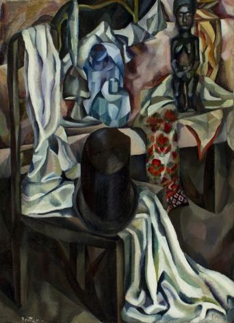 "Arna Brittin oil painting ""The Silk Hat""."