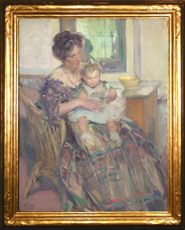 Frame view of Mother and Child by Richard E. Miller.