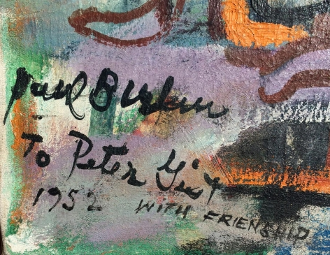 "Signature on ""Composition"" by Paul Burlin."