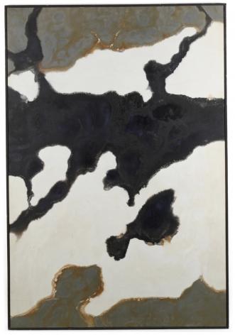 """Frame of """"Black and Grey #42"""" by Stanley Twardowicz."""