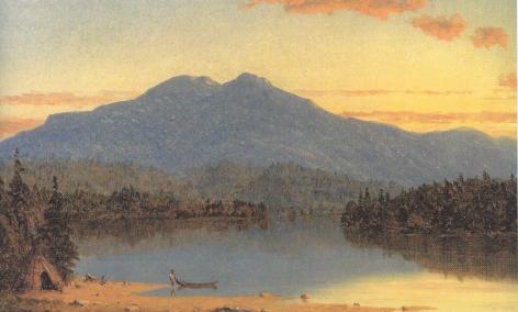 "Sold Sanford Gifford painting entitled ""Mountain Lake at Sunset""."