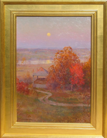 """Frame on """"Autumn Moonrise"""" by Walter Launt Palmer."""