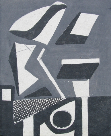 Vaclav Vytlacil untitled abstract black and white painting 005.
