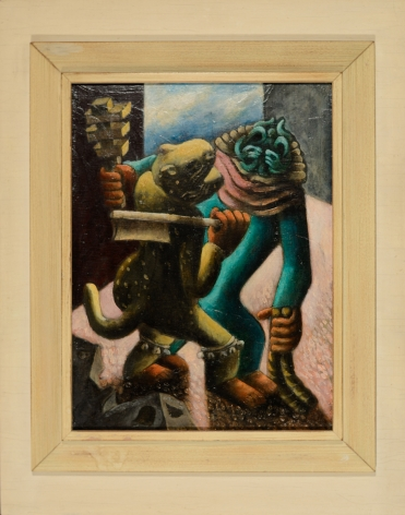 """Frame of """"Tlaloc and the Tiger"""" by Julio De Diego."""
