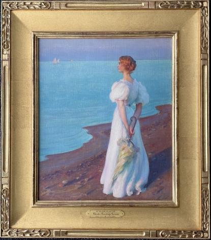 Frame view of On the Shore of Lake Erie by Charles Courtney Curran.