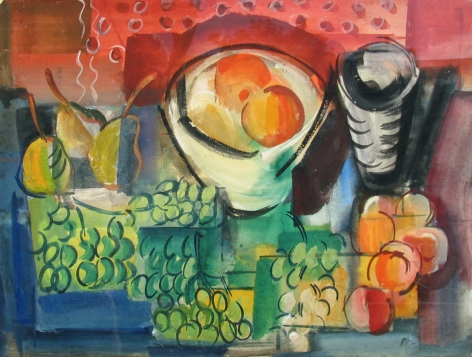Vaclav Vytlacil sold archive still life with grapes.