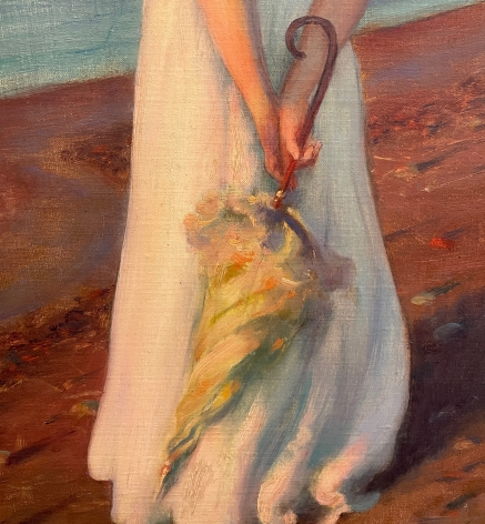 """Detail of """"On the Shore of Lake Erie""""."""
