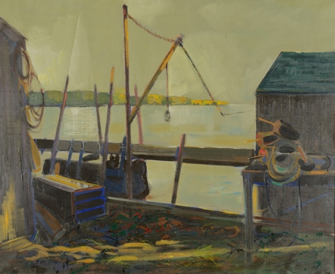 """Oil painting entitled """"After Showers - Maine Coast"""" by Edward Christiana."""