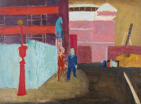 ASPCA Street Near Bellevue painting by Joseph Solman.
