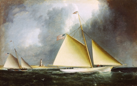 James E. Buttersworth untitled painting of two yachts racing right from sold archive.