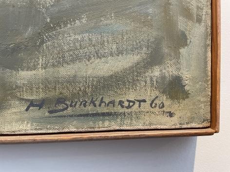 Signature on Bells of San Miguel de Allende painting by Hans Burkhardt.