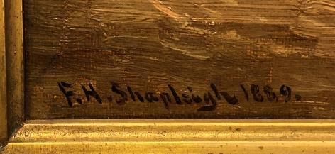 "Signature on ""The Plaza Basin"" by Frank Shapleigh."