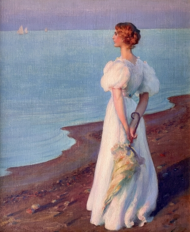 On the Shore of Lake Erie by Charles Courtney Curran.
