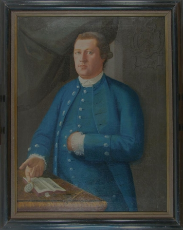Frame view of Man in Blue by John Mare.
