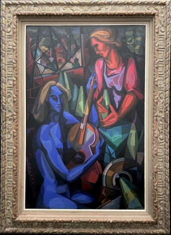 """Frame on """"Ballad for Two Women"""" by Seymour Franks."""