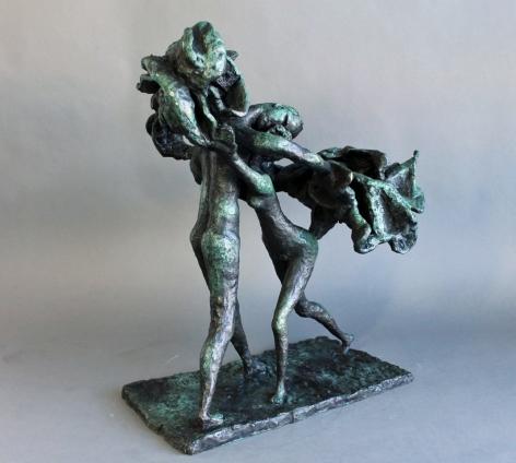 "Yulla Lipchitz bronze entitled ""The Dance""."