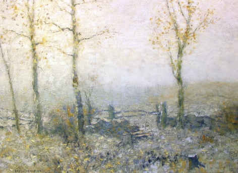 """Sold painting by Bruce Crane entitled """"Edge of the Woods""""."""