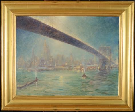 "Frame on ""Bridge Nocturne"" by Johann Berthelsen."
