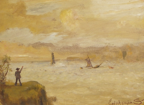 """Sold painting by Louis Eilshemius entitled """"Farewell""""."""