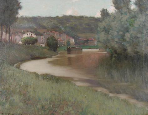 """""""River Scene"""" by Edward Dufner."""